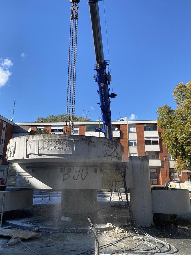 Rezanje betona dijamantnom sajlom - IVAS REZ